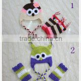 STOCK! Cute Baby Animal Hat Crochet Patterns with Matching Leg Warmer for Infant Toddler