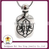Hot Sell MINI Style Funeral Casket Stainless Steel Fashion Cremation Jewelry Cat Heart Cremation Ash Urn Pet Memorial Pendant