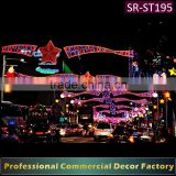 Customize commercial cross Street Popular led motif street light Rope light