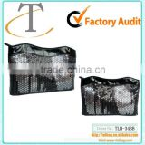 Black Sexy ladies Sequin PVC Evening Clutch bag