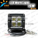 "Highly recommended 16W 3"" Square LED driving light 9-32v IP67 C REE led car driving light 16w led construction working light"