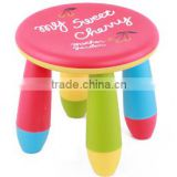 Plastic Children Furniture Plastic Kids Chairs, Round Stools,Plastic Children Round Stools for Pre-school
