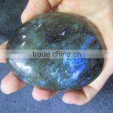 Natural blue color labradorite stone polished rough for crafts