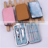 luxury stainless steel manicure set/manicure with nail clipper for pedicure manicure spa shop with manicure table