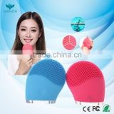 New arrival face beauty equipment electric facial cleanser vibrating silicone face washing brush