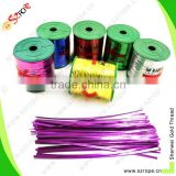 PET /Metallic colorful Twist Tie for bag closing