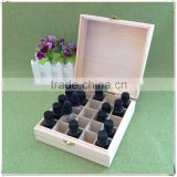 Free samples time-limited sales promotions stock wooden essential oil storage box with 25grids