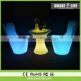 giant folding chairs with 6 cup holders 156 colors for nightclub illuminous led furniture