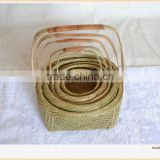 Wholesale Cheap Bamboo Basket With Handle Woven Basket