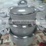 3pcs aluminum fry pan with two handles