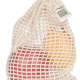 Reusable Produce Bags – Organic Cotton Mesh – 5 Pack – Large Size for Grocery Shopping and Fruit and Veggie Storage – Wi