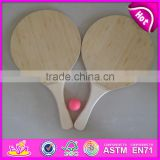 Summer paddle game bat set beach racket,Interesting Wooden Beach Bat and Ball Set,Promotional Wooden Beach Bat With Ball W01A117