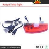 Raypal Waterproof Bicycle Led Lights Led Set USB Rechargeable Bike Light