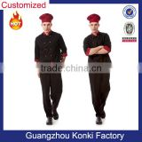 hot sale white black color cotton or polyester fabric waitress waitor restaurant chef uniform