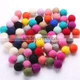 wholesale 3cm classical round ball felted wool handmade DIY material hair bobby pins ornament raw materials spot supply