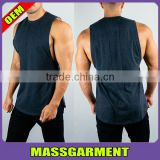 MS-1942 Mens Workout Apparel Dry fit Loose Gym Fitness Printed Tank Top Men Sport Sleeveless Tops