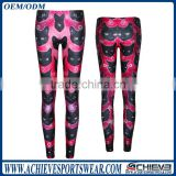 wholesale custom polyester spendex dry fit brand name leggings, women fitness legging pants
