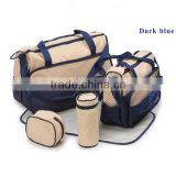 Dark Blue 5pcs Multi-Function Baby Diaper Nappy Bag/Mummy Changing Set Handbag