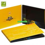 Hot Selling Custom 7 Inches Lcd Video Card,Video Brochure,Video Booklet For Wedding Invitation