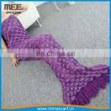 High Quality whole colored mermaid blanket crochet blanket