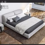 Italian Modern Furniture Removable And Washable Linen Fabric Double Bed