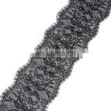 3Y/Roll Exquisite 18cm White Black Eyelash Lace Trim For Wedding Dress