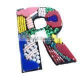 2018 Handmade English Letters alphabet Rhinestones beads patches applique sew on beading applique clothes