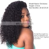 Brazilian virgin hair unprocessed Kinky curl human hair weave