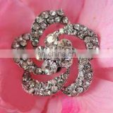 2013 fashion metal flower rhinestone button invitation card button