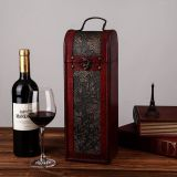 china factory sale buy single double 3, 6 bottle wood leather wine packing box price
