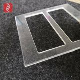 custom 3-5MM tempered glass polished beveled edges for switch socket glass bezel