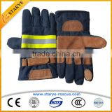 EN659 Cow Leather & Nomex Material Fire Resistant Gloves Fire Fighting Used Fire Proof Gloves                                                                         Quality Choice                                                     Most Popular