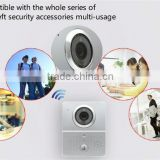 Smash hit video wireless door bell with 110 degree angle lens,supports wifi remote viewing and answering via app on smartphone