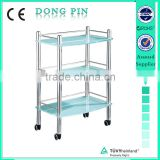 glass trolley for beauty salon cart