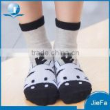 Black and white high quality child cartoon sock                                                                         Quality Choice