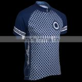 Navy Blue outdoor road wear Close fitting cycling jersey dye sublimation Cycling Shirts