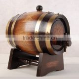 Oak Material Wood Type Beverage Storage Boxes, Used Wooden Wine Barrels, Empty Mini Whiskey Barrel with Stand                                                                         Quality Choice