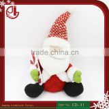 Dropshipping New Stuffed Soft Plush Toy In Santa Claus Shape Scooter For Christmas Home Decoration