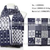 famous brands acrylic scarves star design long scarfs for winter woman