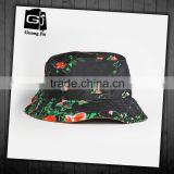 Adult mexican cheap tie dyed printed bucket hat with logo patch