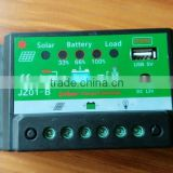 Factory supplier 12V/24V solar charge controller with USB output, pwm solar charge controller, 5A/10A price solar charger contr