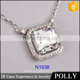 925 sterling silver jewelry, zircon pendant wholesale in PANYU