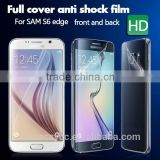 New hot selling anti-shock clear front and back screen protector for Samsung galaxy s6 edge free sample                                                                         Quality Choice