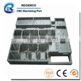 Precision CNC machining for bottom plate, made of aluminum 6061, anodized finish
