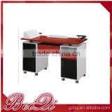Super funtional double manicure table nail salon furniture nail manicure table price