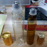 Made in China 15ml glass roll on bottles with stainless steel roller ball,roll on perfume bottle