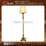 CE UL approved indoor gold resin decorative living room stand lamp