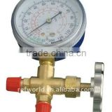 one way digital manifold gauge with ball valve hand L