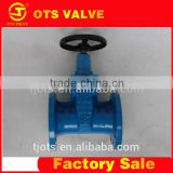 High quality cast iron non rising stem wedge gate valve