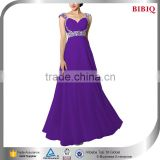 elegant chiffon evening dresses flowy bead design evening dress long corset a-line wedding dress princess                                                                         Quality Choice
